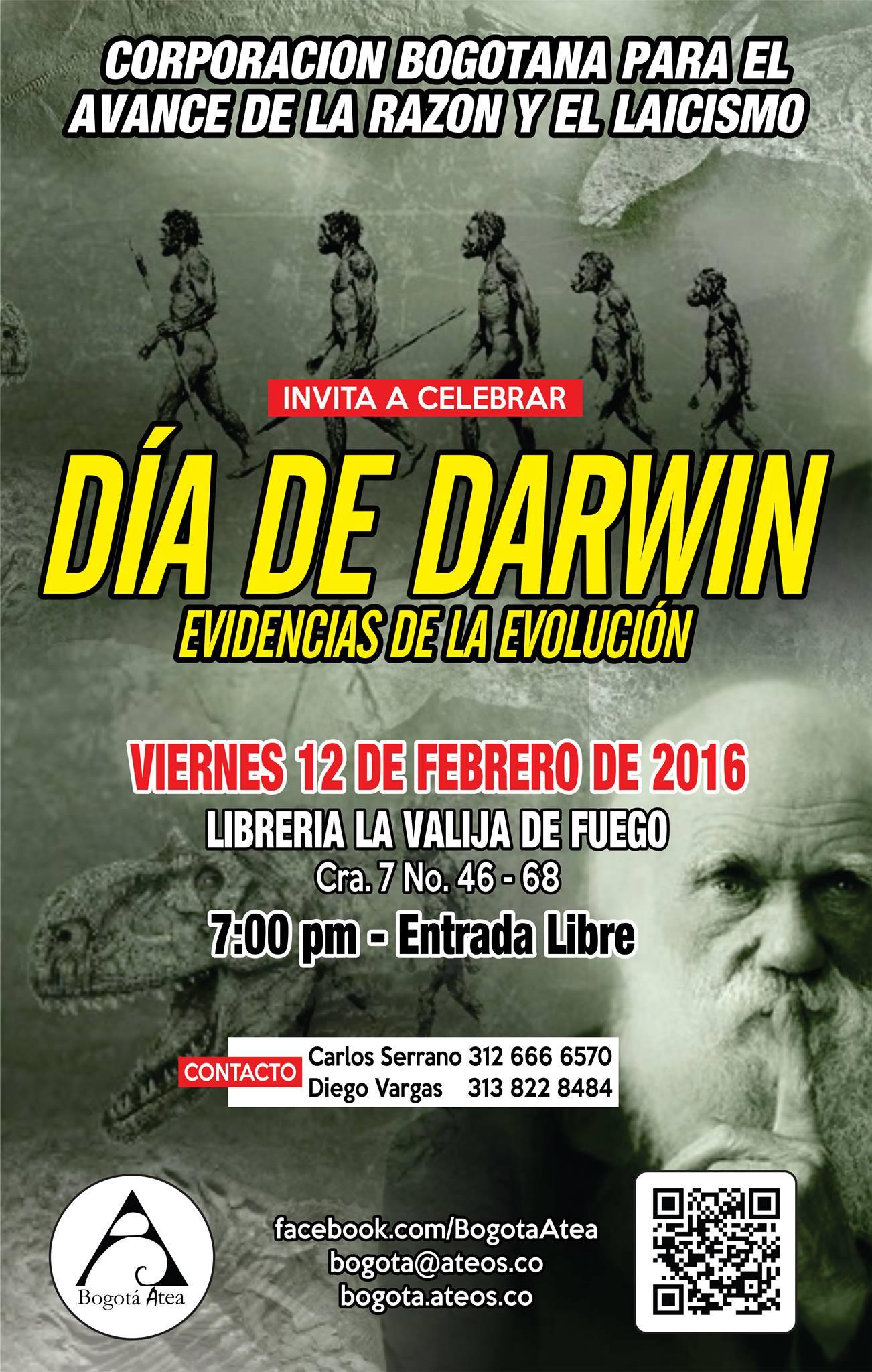 Dia de Darwin 2016 – Evidencias de la Evolución
